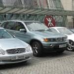 Parkir mobil di London