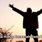 berserserah kepada Tuhan