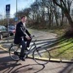 PM Belanda Mark Rutte bersepeda