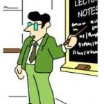 karikatur dosen mengajar