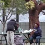 Pengemis miskin di Los angeles
