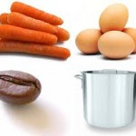 kopi telur wortel