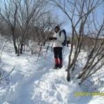 mendaki gunung bersalju
