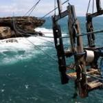 Gantole Kereta Ekstrim ke Pulau Timang