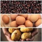 Kentang-Telur dan Biji Kopi