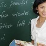 guru cantik mengajar