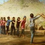 5-permainan tradisional Jawa Barat - Oray orayan