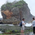 Jungwok pantai berpasir putih Yogyakarta