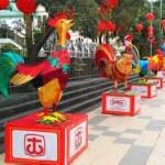 Pusat Kota Singkawang lampion replika dari 12 shio