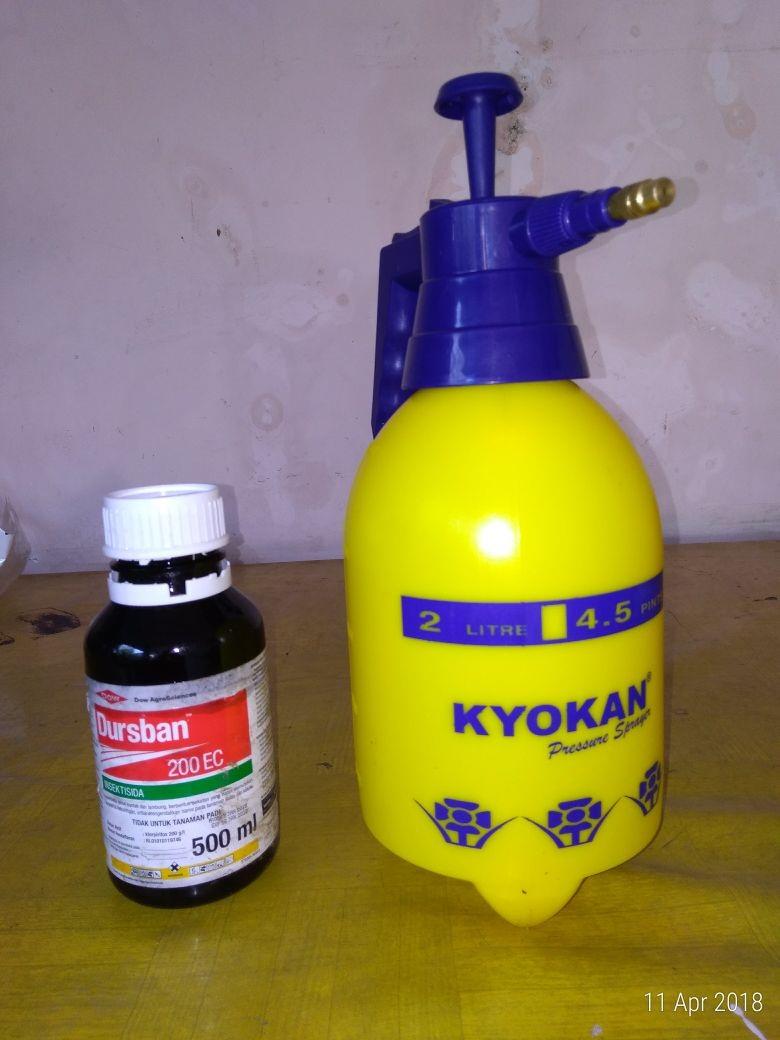 Anti insektisida dan pompa penyemprot
