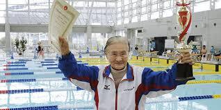 Nenek Matsuyama Usia (100) bererang 1500 Meter