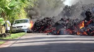 Mobil dimakan Lava Gunung Kilauea
