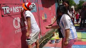 Warna warni Kampung Piala Dunia di Manado