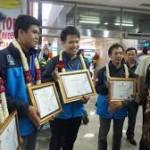 Penghargaan untuk Tim Juara Dunia Sepak Bola Robot