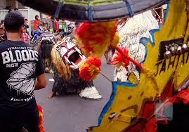 pertunjukan Singo Budoyo Kampung Cempluk Malang