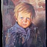 lukisan crying boy