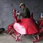 Petani China Membuat Kendaraan Berbentuk Kepiting