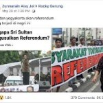 Benarkah Yogya Minta Referendum Pasca Pilpres-2019