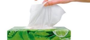 gunakan serbet pengganti tisu
