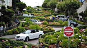 pemandangan jalan indah Lombard Street-Amerika Serikat