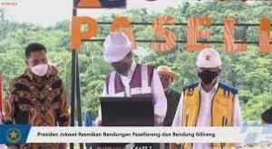 Jokowi Resmikan Bendungan Paselloreng di Sulawesi Selatan